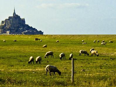 Approaching Mont-Saint-Michel, Basse-Normandie, France I