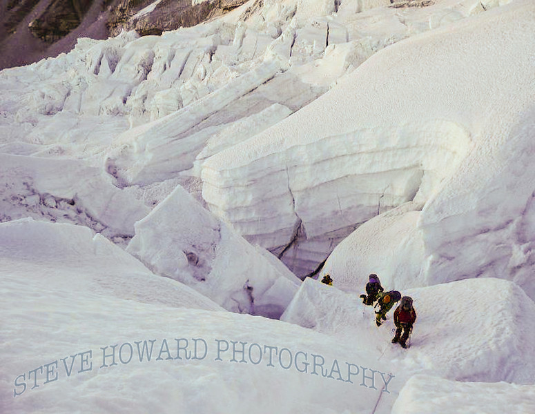 National, Geographic, Image, Khumbu, Ice, Fall, South, side, Mt., Everest