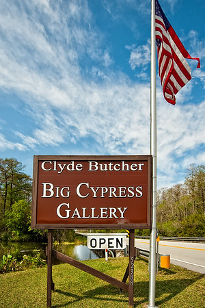 Clyde Butcher's Sign on Rt 41