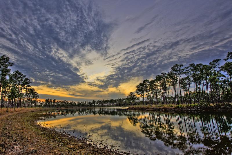 Sunset on Long Pine Pond Everglades National Park
