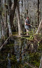 Chris and I follow Garl thru the swamp looking for photo opportunities.................we kept him between us and the critters!!