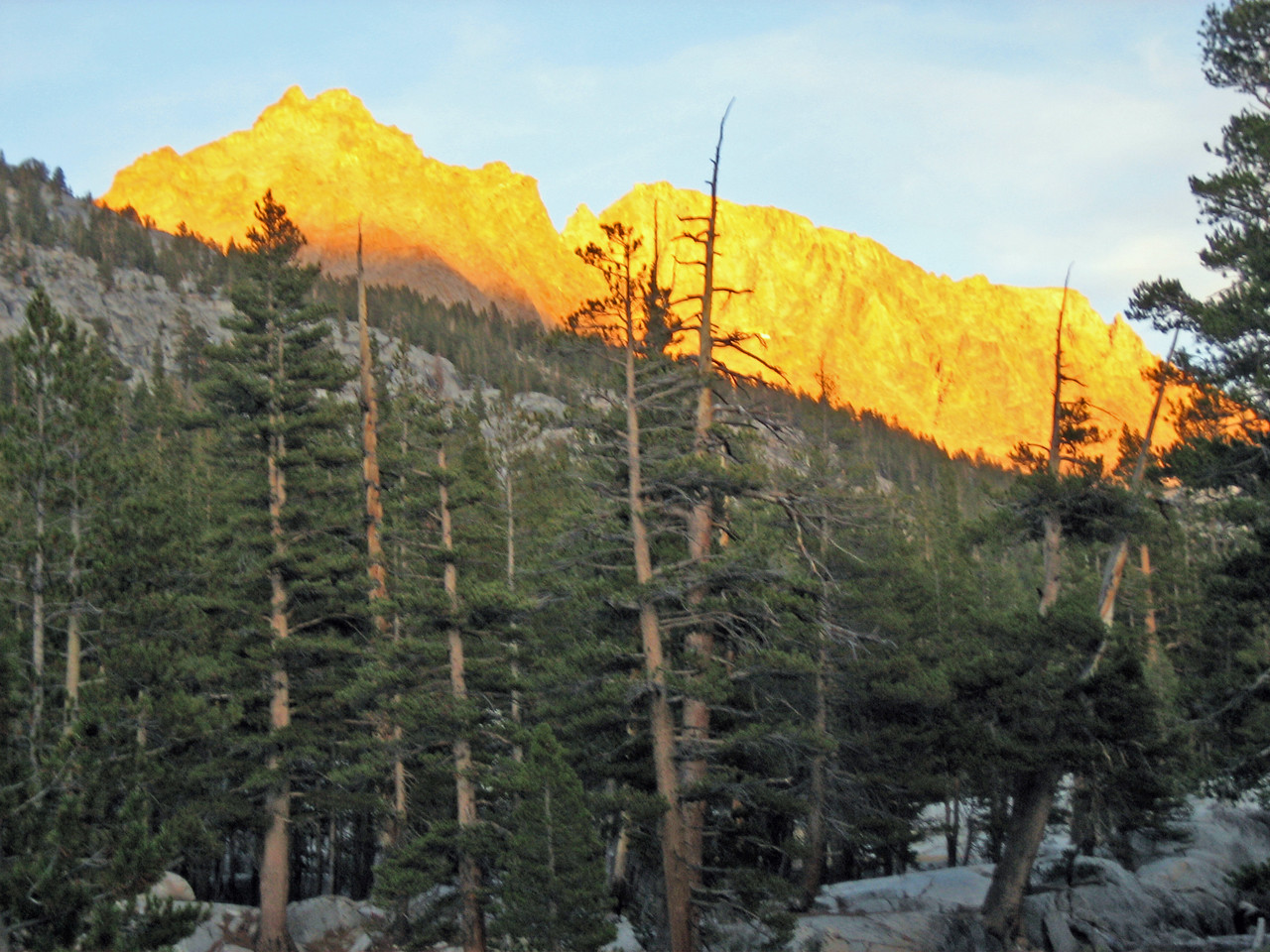 Sunset in Evolution Valley - John Muir Trail