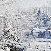 2. First Snow <br /> (view from Linkville Pioneer Cemetery, Klamath Falls)