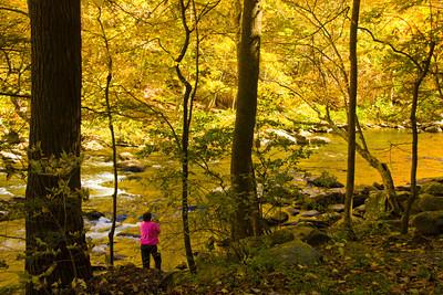 Judi getting a river photo.