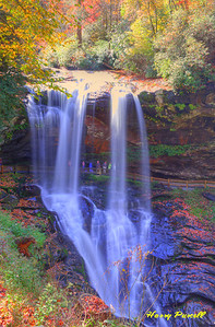 the Dry Falls, north of Highlands, NC