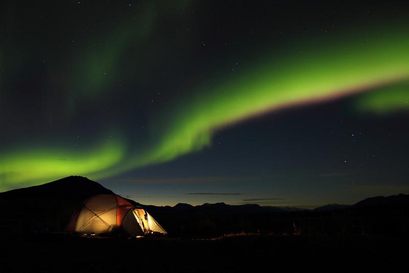 Northen Lights, ANWR Brooks Range Alaska<br /> fall 2012