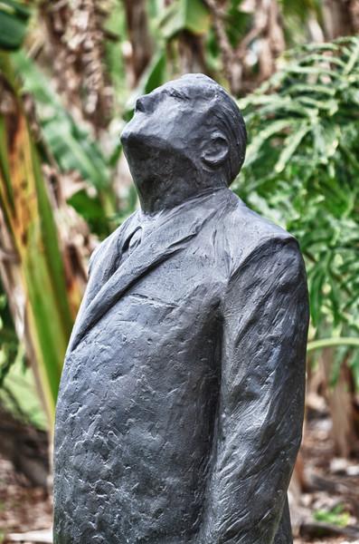 Statue of Man in Garden