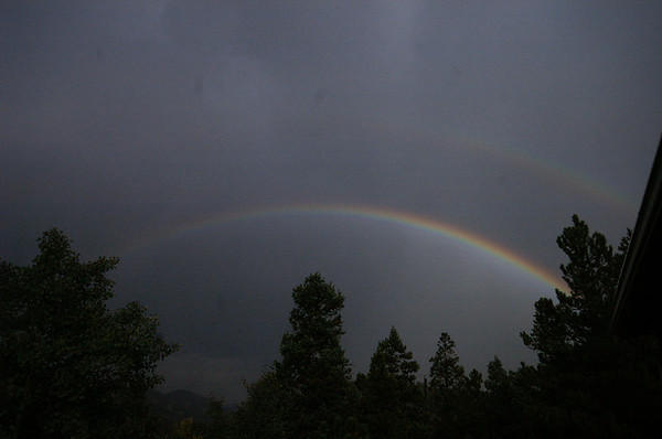 Double Rainbow after afternoon thunderstorm