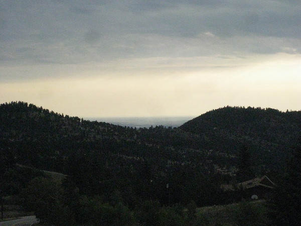 Early morning view of Boulder and the plains