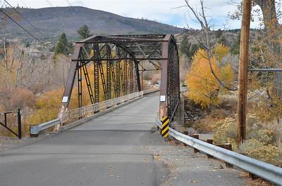 The bridge across the Truckee River - November 2, 2013