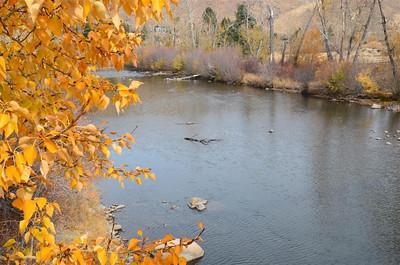 Truckee River from the bridge in Verdi - November 2, 2013