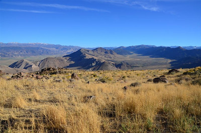 The ridge running beside Company Meadows (on the right) is at an elevation of 8500 to 8750 ft.