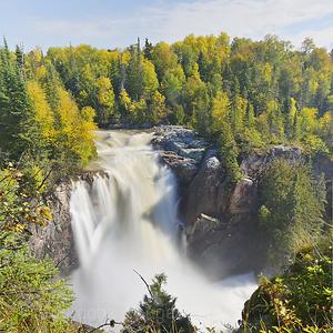 Aguasabon River Waterfalls, Terrace Bay, Ontario, Canada