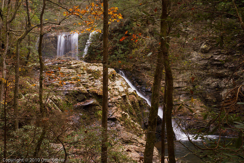 Middle and Lower Brasstown Falls near Long Creek SC