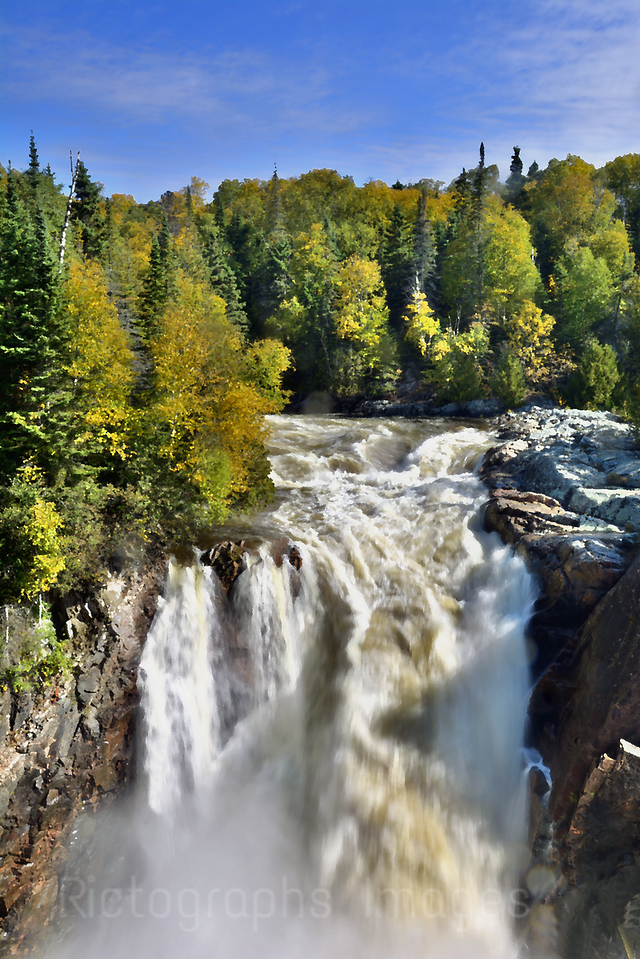 Aguasabon River Waterfalls, Terrace Bay, Ontario, Canada