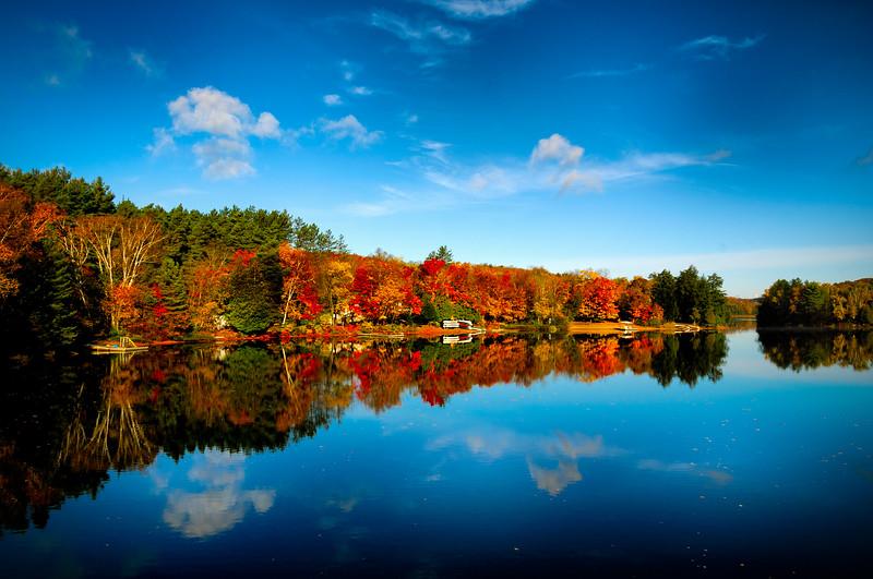 Fall Colour along the Oxtongue River, near Algonquin Provincial Park,Ontario, Canada
