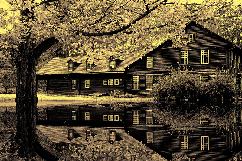 Allan House in historic town of Deerfield, Massachusetts,USA