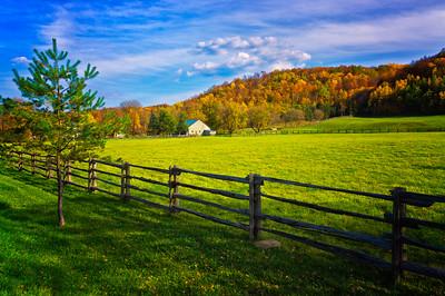 Fall colours along Hockley Valley Road, Ontario,Canada