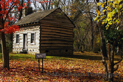 Historic Log Cabin in Fall