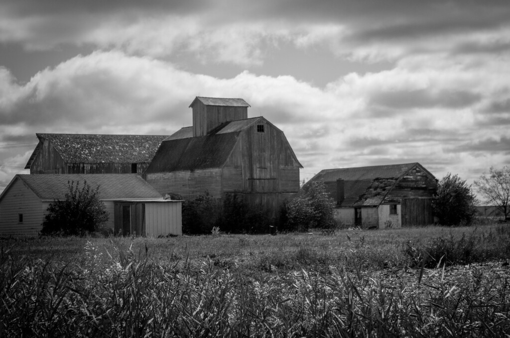 I love the look of old farms.