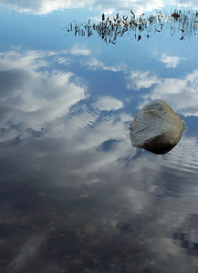 clouds on water