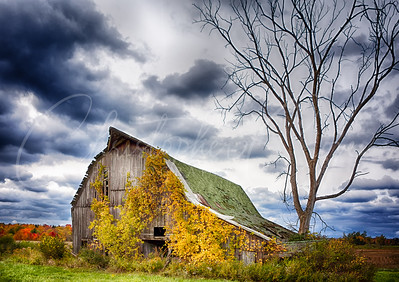 Fall Barn before Storm