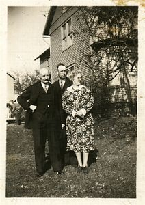 Hubert Chenevey (granddads father) Arthur and Josephine Chenevey, dated around 1940.