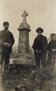 A photograph taken in Calmoutier cemetary. This was sent to Josephine  Marthey (Chenevey) at /or around 1910.
