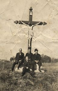 The setting of the cross in the newer section of St Genevives Cemetary. This picture is dated before my grandmothers marriage to my Grandfather. So, it appears to be from around 1910.