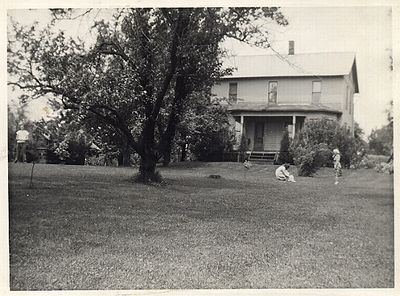 A view of the farm in the 1940's
