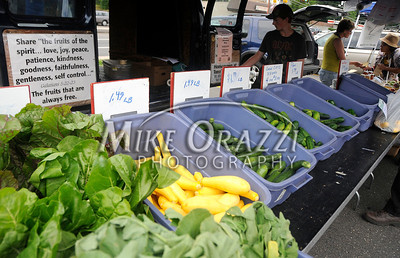 8/3/2011 Mike Orazzi | Staff Connecticut grown crops at Tonn's Orchard farm stand during the Bristol Farmers' Market held at the Bristol Commons shopping center during the weekly Wednesday market.  *** for a Diane Sunday story ***
