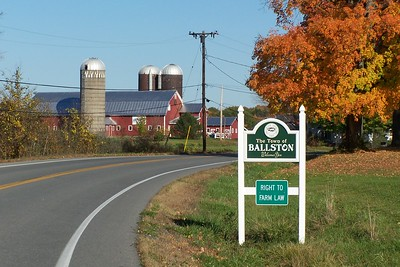 Town of Ballston in the Fall.