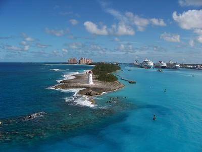 View of Nassau, Bahamas from cruise ship - November 20, 2009