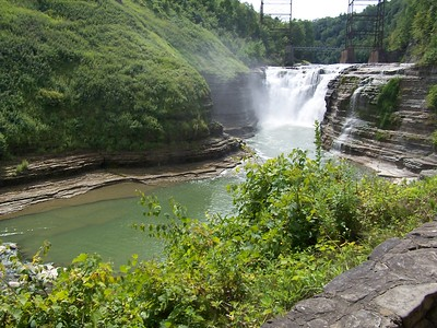 The upper falls at Letchworth State Park.