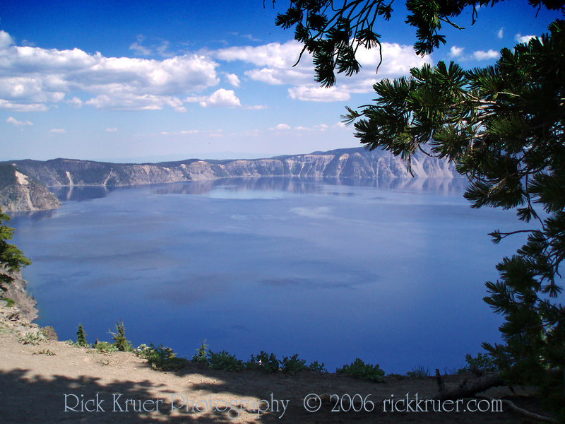Eileen's photo of scenic Crater Lake taken on the west side of the lake near Merriam Point. Photo taken looking toward the northeast.<br /> P7250481-CraterLakeScenicMerriamPointWestSide-2 copy.jpg