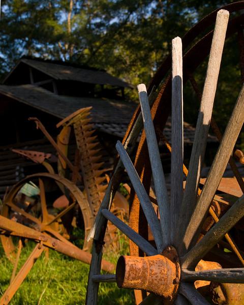Wagon wheel at Tannehill