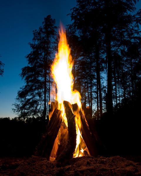 Campfire at Boggy Pond