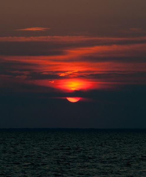 sunset across Mobile bay