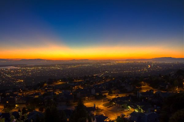 Oakland at Sun Down