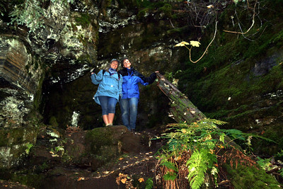 Lorinda & I climed up to see the cool spot Patrick found.