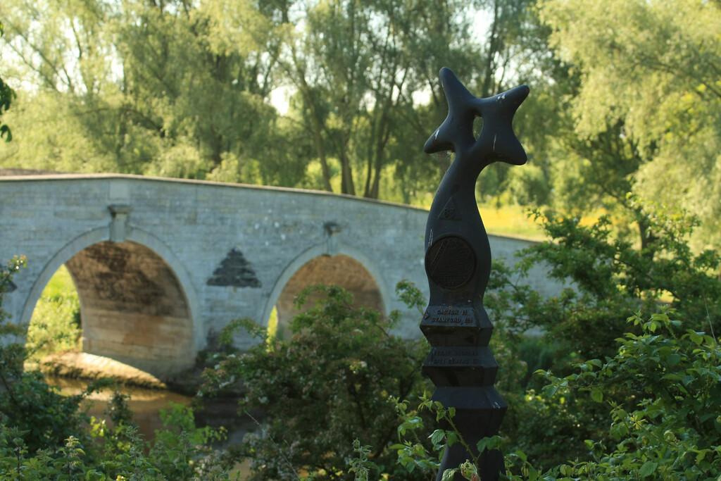 sculpture and bridge