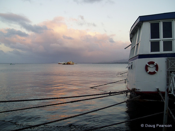 Sunrise on the water in Suva.