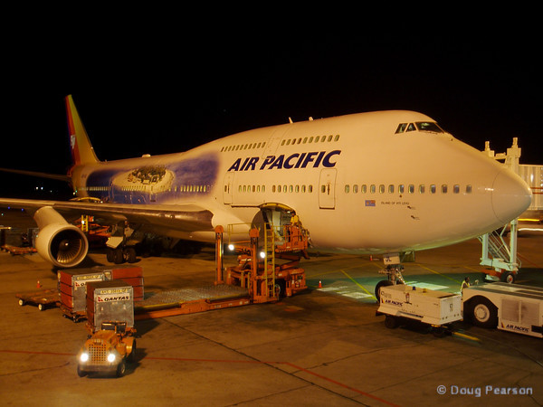 I arrived from Los Angeles to Nadi, Fiji on this Air Pacific 747.