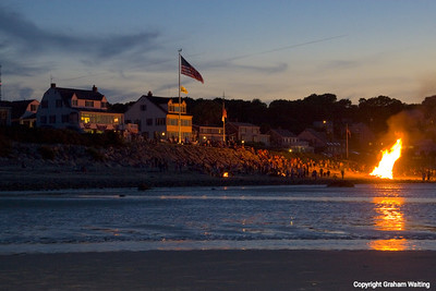 Fireworks at Plymouth Beach, MA, USA