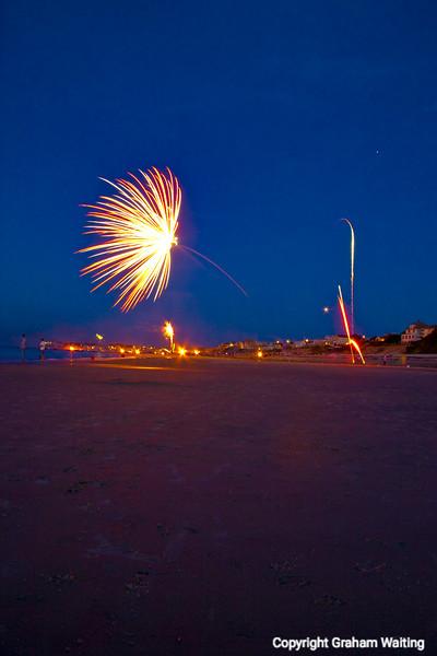 Fireworks, Plymouth Beach, MA, USA