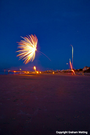 Fireworks, Plymouth Beach, MA, USA