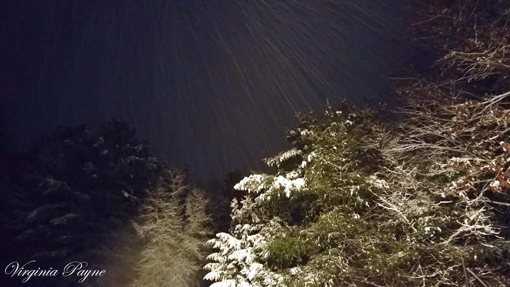 Still snowing when we got home around 9:00pm after my dance recital on 12/9/17...