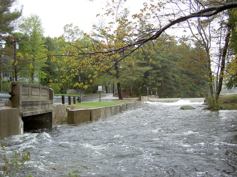 Spillway in full operation at Pleasant Lake Dam. Spring of 06