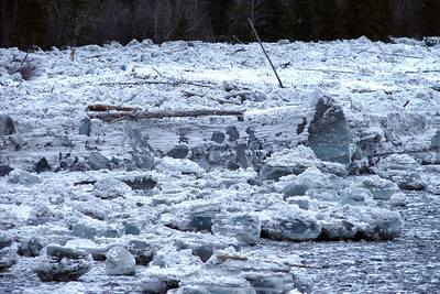2/5/07 - Another view of the ice blocks that must have come from far upstream.