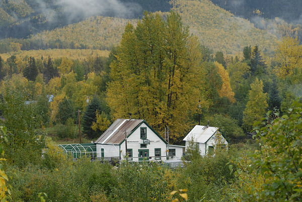 This small store is in Hope, Alaska, situated on the Kenai Peninsula south of Anchorage. This photograph was taken in mid-September.